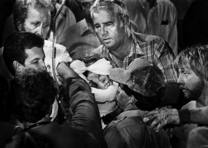 Scott Shaw's Pulitzer Prize Winning Photo taken as Baby Jessica McClure was pulled from the well in Midland, Texas